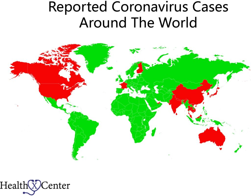 What countries have Coronavirus